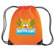 Shoppartners Kitty Cat katten rugtas / gymtas oranje voor kinderen