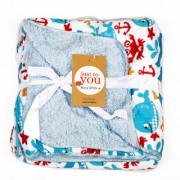 CANNON BABY BLANKET FISH LIGHT BLUE-RED -BLUE