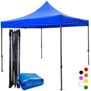 Carpa Toldo Lona 3x3m Plegable Impermeable Azul