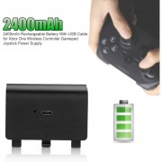 EY 2400mAh Rechargeable Battery With USB Cable For Xbox One Wireless Controller Gamepad Joystick Power Supply-black