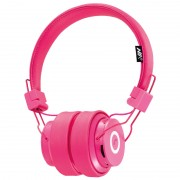 NIA-X6 Over-ear Bluetooth Headphone Support Micro SD Card Play / FM Radio / Audio Input / Hands -free Phone Call - Rose