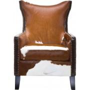 Kare Design Fauteuil Denver Cow - Koeienhuid - Bruin / Wit