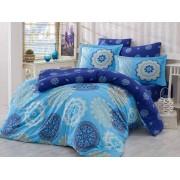 Lenjerie de pat King Hobby Home Satin DELUX Ottoman Blue