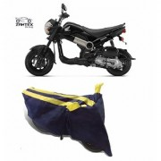 Intenzo Premium Yellow and Black Two Wheeler Cover for Honda Navi