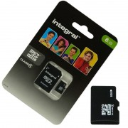 Pour SONY Xperia Z3 / Z3 Compact : Carte Memoire 8 Go Micro Sd Hc + Adapt Sd Integral