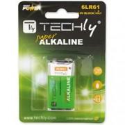 Techly Blister 1 Batteria High Power Alcalina 6LR61 9V
