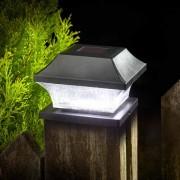 Kerti napelemes szolár kerítés lámpa 14 cm hideg fehér