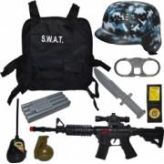 Costum special pentru trupele speciale S.W.A.T din 9 piese cu accesorii