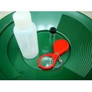 "10"" Green Gold Pan-Snuffer Bottle-Glass Vial-Magnifying Glass-Panning Kit Mining"