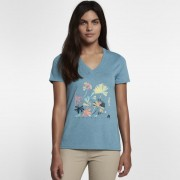 Hurley Surf Brush Perfect V Damen-T-Shirt - Blau