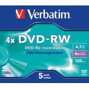 VERBATIM 43285 - Verbatim DVD-RW 4,7GB, JewelCase 5er-Pack