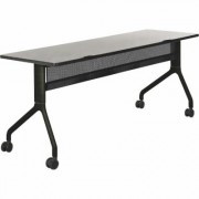 Safco Rumba Rectangular Nesting Table - 72 Inch x 24 Inch, Gray/Black, Model 2043GRBL