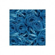 Elastice Rainbow Loom - Metalic Albastru-300 buc