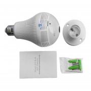 Bombilla de luz de 360 grados AP inalámbrico Wi-Fi Cámara FishEye lent