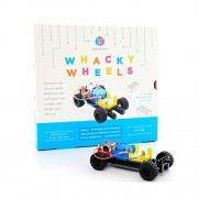 """Circuit Cubes Whacky Wheels Stem Toy Lego Compatible Electronic Building Blocks Construction Kit Geared Motor Projects Toy, Multi, 7"""" x 4"""""""