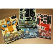 3D Puzzle Construction Trucks - Set of 4 Different Vehicles - Tractor, Digger, Dump Truck & Tow Truck