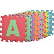 Covoras Tip Puzzle pentru Copii 10 Piese din Spuma Moale cu litere multicolor
