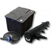 Wiltec - Kit de filtration de bassin pour 12000l avec 72W Stérilisateur