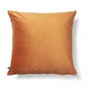 Kave Home Almofada Lita 45 x 45 cm veludo laranja