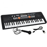 Akshata 61 Keys LED Display Piano Keyboard Toy with Recording Mic Mobile Charger Power Option