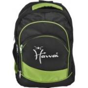Hawai 15.4 inch Laptop Backpack(Black, Green)