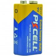ER 4pcs PKCELL Square Las Pilas De Zinc-carbono 9V 6F22 Batería Para Electrónica -Amarillo Y Azul