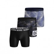 Björn Borg Performance Shorts Multi Camo 3-pack S
