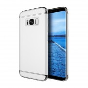 Funda Case Para Samsung Galaxy S8 (No Plus) Protector Carcasa Con Aspecto Cromado Y Textura Satinada - Silver
