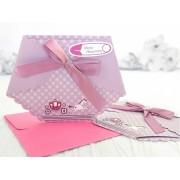 Invitație pampers roz cod 15503