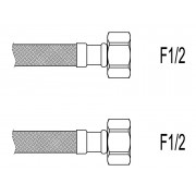 "Racord flexibil apa i-i, F1/2""xF1/2"", 40 cm Techman PWS3"