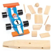 Wooden Racing Cars - 2 Blank Craft Cars. Wooden Toy Cars For Painting. Size 17cm.