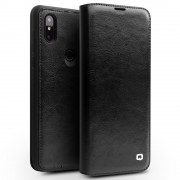 QIALINO Classic Cowhide Leather Case for Xiaomi Mi Mix 3 - Black