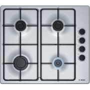Gas cooktop BOSCH PBP6B5B80 (4 fields; Silver)