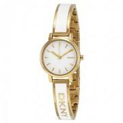 DKNY Quartz White Round Women Watch NY2358