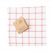 Dille&Kamille Lavette, coton bio,à carreaux rouges