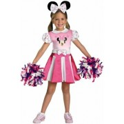 Disguise 198307 Mickey Mouse Clubhouse- Minnie Mouse Cheerleader Toddler- Child Costume Size: Toddler (3T/4T)