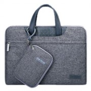 12 inch Cartinoe Business Series Exquisite Zipper Portable Handheld Laptop Bag with Independent Power Package for MacBook Lenovo and other Laptops Internal Size:28.0x17.0x3.0cm(Grey)