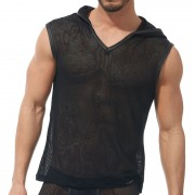 Gregg Homme STRAP Hooded Muscle Top T Shirt Black 170222