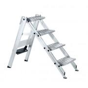 Zarges Sicherheitstreppe Plazatec P klappbar mit Riffelblechbelag und Arretierungbügel 3 Stufen