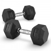 Capital Sports Hexbell 27.5 Dumbbell, o pereche de gantere, 27.5 kg (PL-8385-8385)