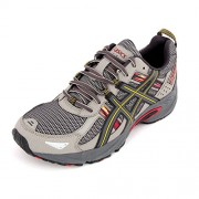 Asics Men's Gel Venture 5 Light Grey, Graphite and Red Mesh Running Shoes - 10 UK