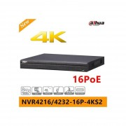 DAHUA Nvr 32ch 8mp Hdmi Vga 2hdd 2usb 1lan 12v I O Alarm Audio