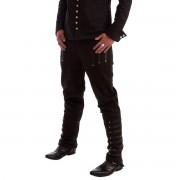 pantaloni uomo NECESSARY EVIL - Mephisto - Nero - N1178BL