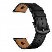 PU Leather Smart Watch Replacement Strap for Huawei Watch GT2e/GT2 46mm - Black