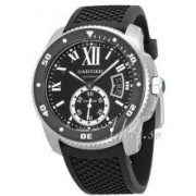 Cartier W7100056 Calibre de Cartier Svart/Gummi Ø42 mm W7100056