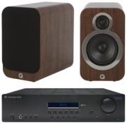 Pachete PROMO STEREO - Q Acoustics - 3020i + Cambridge Audio Topaz SR10 English Walnut