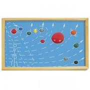 Montesori drvene puzzle Sunčev sistem 9 planeta HTG0079 (15064)