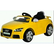 Rangildas Toy Mall Officially Licensed Audi TT RS Plus Battery Operated Sports Car with R/C (Yellow)