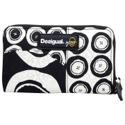 Desigual Mini Zip Black and White Geldbörse