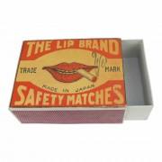 Vintage Lucifersdoosje Lippen
